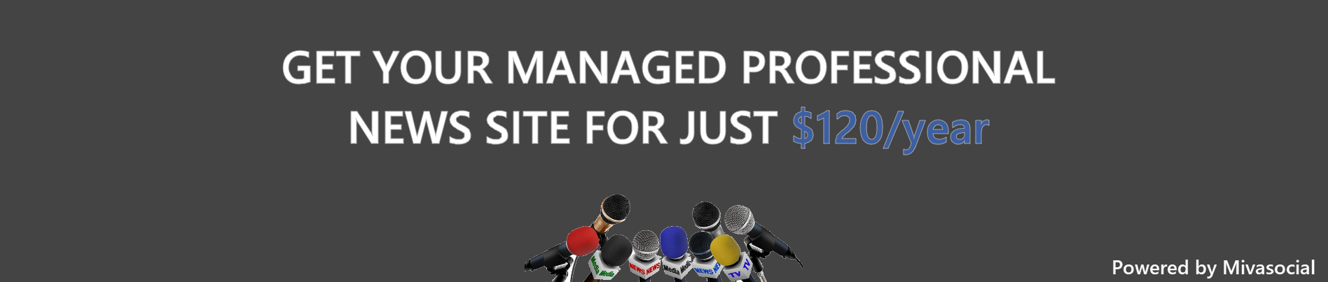 GET YOUR MANAGED PROFESSIONAL NEWS WEBSITE SITE FOR JUST $120/year